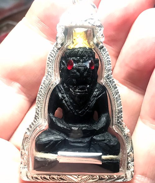 An Incredible Pujow Samingprai Amulet by the mighty Ajarn Suea in silver