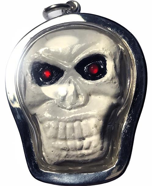 The Fabulous Phi Ta Mop Ghost Amulet by Ajarn Krit Payak in silver