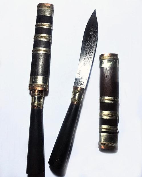 "Beautiful 9.5"" Miit Mhor Knives by Ajarn Apichai"