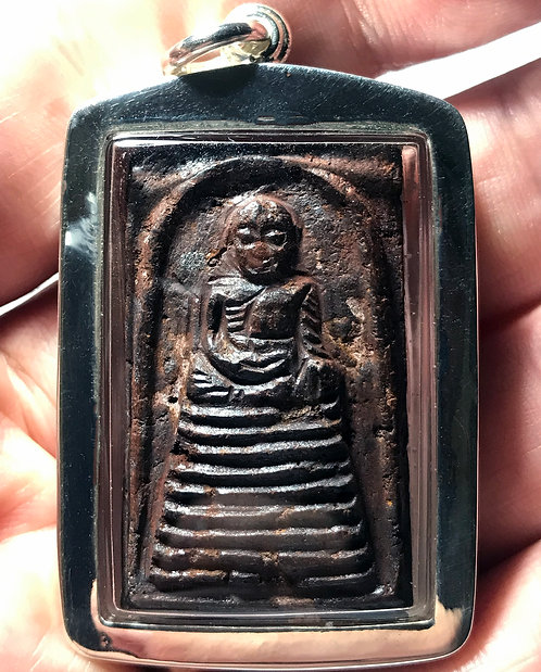 The Leklai Luang Pu Tuad Somdet Amulet by Phra Ajarn O in silver LAST ONE