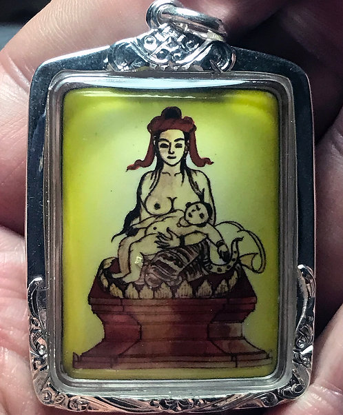 The LAST Meo Pat Shin Ma Amulet by Ajarn Sala Boon Khong - Burmese Prai
