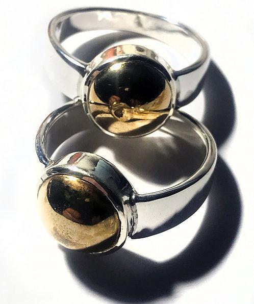 Mercury Eats Gold Silver Rings by Kruba See Ong