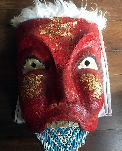 A Superb Takien Wood Phran Dam Mask from Ajarn Plian