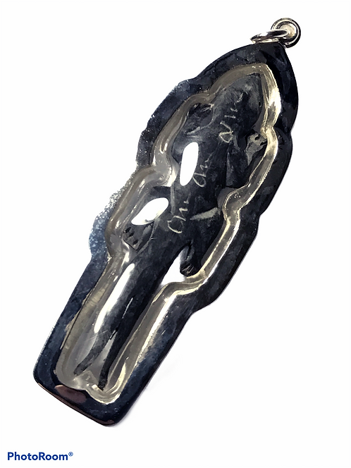 The Legendary Twin Tail Jingjok Prai Amulet by Luang Phor Rit in silver