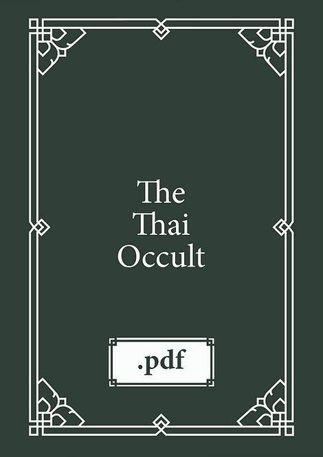 The Thai Occult Book pdf