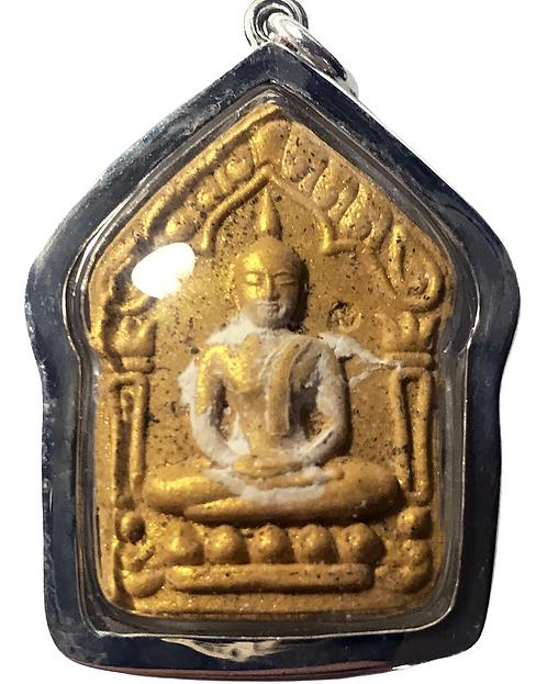 An LP Timm Khun Paen Pong Prai Kuman Amulet by Wat Lahan Rai in silver LAST ONE