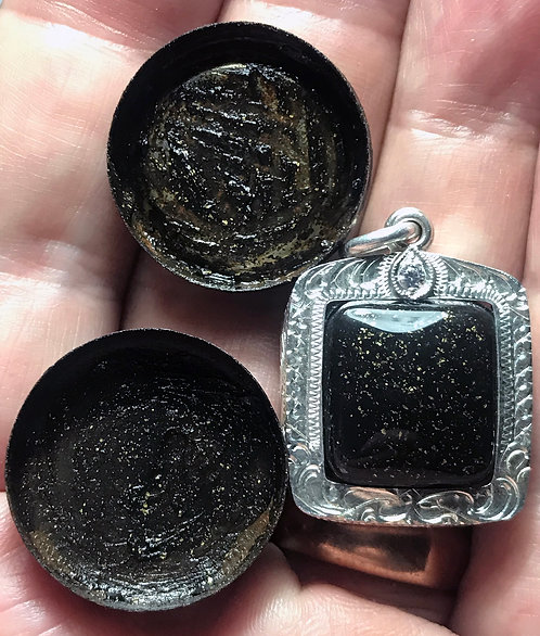 A Silver Amulet of the See Pung made by a ghost by Kruba Wat Mai Hong