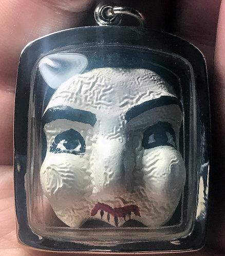 A Superb Takien Wood Taa See Amulet by Ajarn Plian in silver