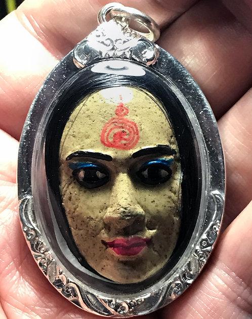The Astonishing Nang Prai Riak Chit Amulet by Ajarn Verataep in silver