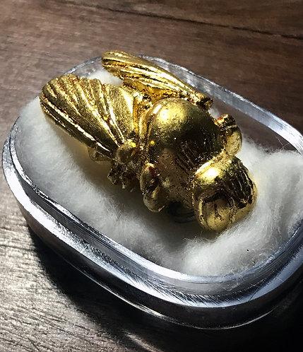 A Fabulous Burmese Wicha Golden Bumblebee Amulet by Ajarn Nan Ting