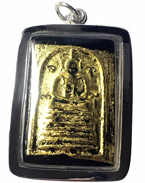 A Stunning Male Prai Somdet Amulet by Ajarn Tui in silver