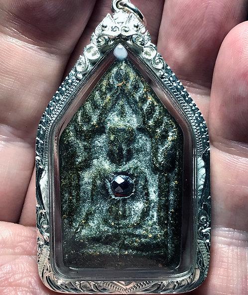 An Original Khun Paen Prai Amulet by Luang Phor Pina in silver