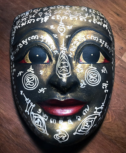 A Fully Consecrated Mask to Phra Laks by Ajarn James