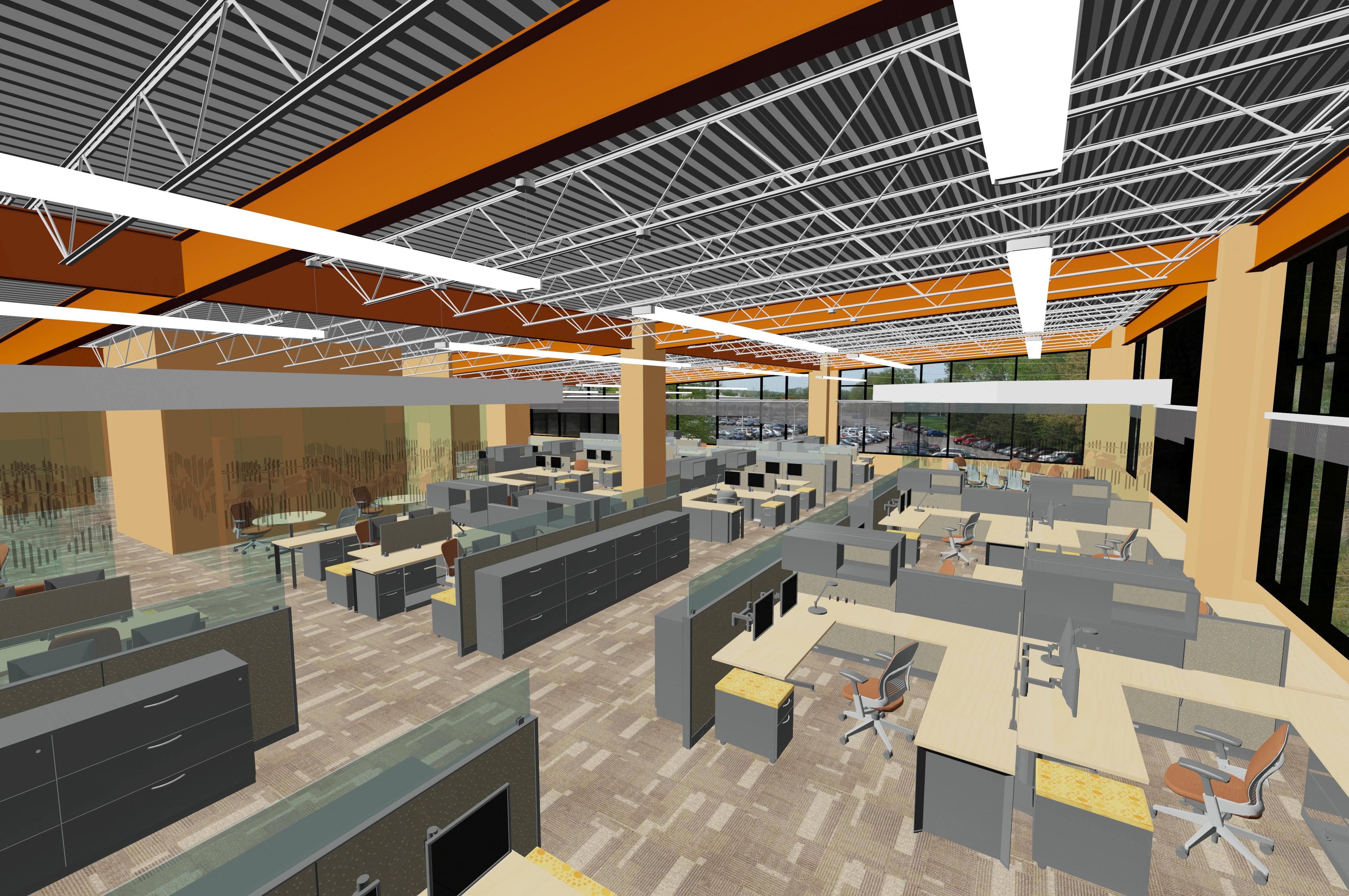 Interior Rendering - Open Office