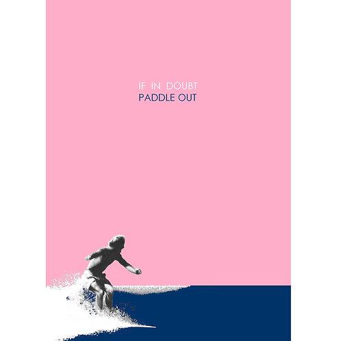 """Paddle Out"" Watercolour Print"