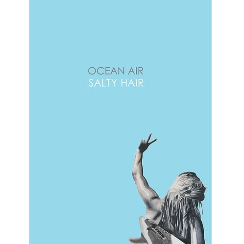 """""""Salty Hair"""" Watercolour Print"""