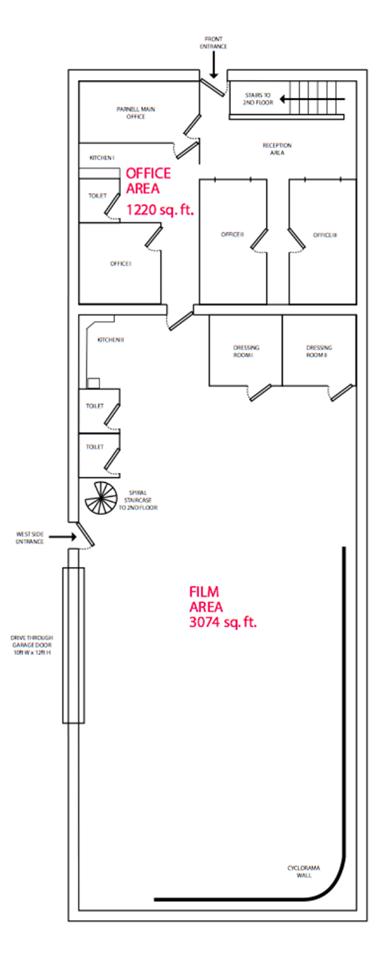Main Studio Floor Plan