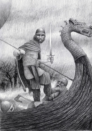 High King Aed; the fair warrior_