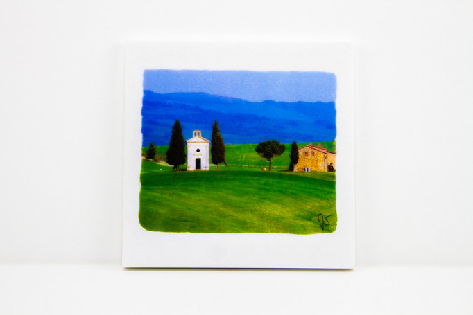 Tuscan photo on Marble Stone - 15x15