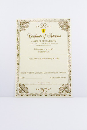 "Certificate ""Adopt Biodiversity"" for a period of 1 year"