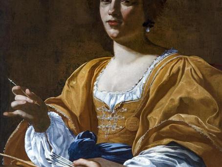 Artemisia Gentileschi la prima donna artista che fù ammessa all'accademia del disegno di Firenze