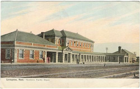 Livingston, Montana train depot, from The Widow Nash, by Jamie Harrison