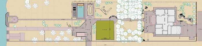 Благоустройство участка включает: мозаичное мощение; ландшафтное освещение; декоративное озеленение; бассейн с зоной отдыха; спортивная площадка; детская игровая площадка; оборудован причал для лодки; павильон с барбекю.