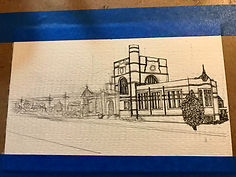 Sketch of Hunt Library Nashua, NH_in process .JPG