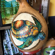 Sea Turtle Gourd