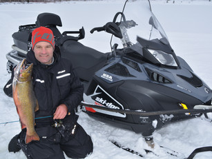 Ice Fishing Tactics with Vibric Rooster Tail