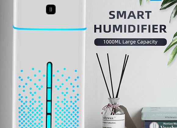 Humidificador Ultrasonico, purificador de 1000 ML. Luz de 7 colores