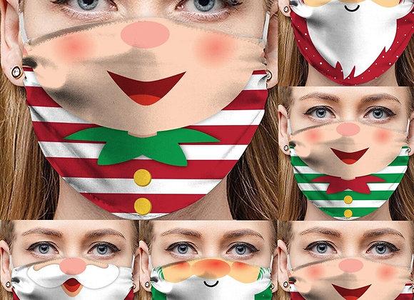 Mascarillas Protectoras, divertidas para Navidad