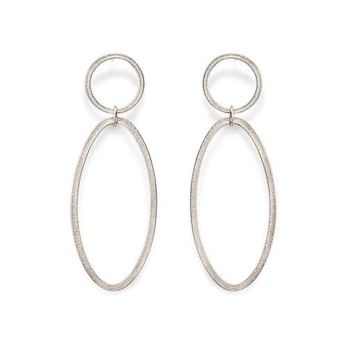 Ellipse Double Drop Earrings