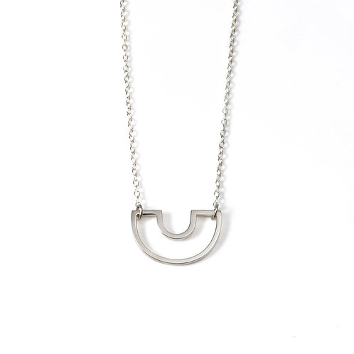 SALE: Mini Silver Parallel Necklace