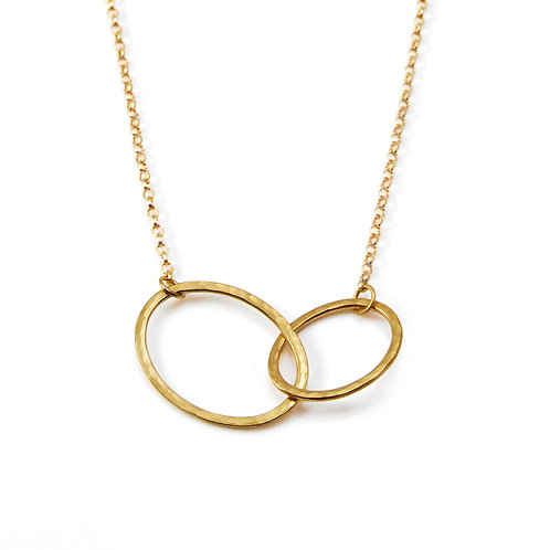 Gold mini tangle necklace