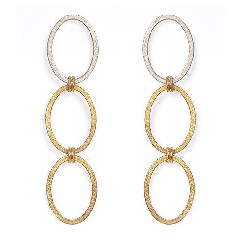Ellipse Long Chain Earrings