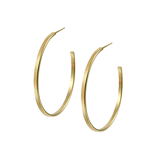 Fine Ellipse Hoop Earrings