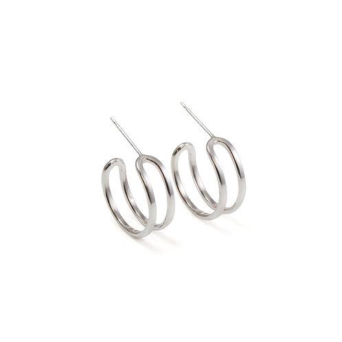 Parallel Curve Hoop Earrings