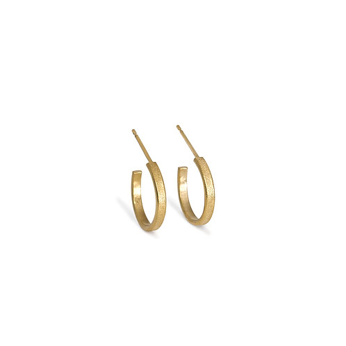 Mini Ellipse Hoop Earrings