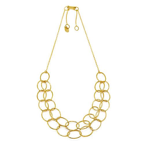 Double Line Gold Cascade Necklace