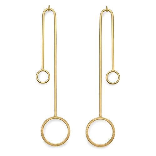 Ellipse Parallel Line Chandelier Earrings