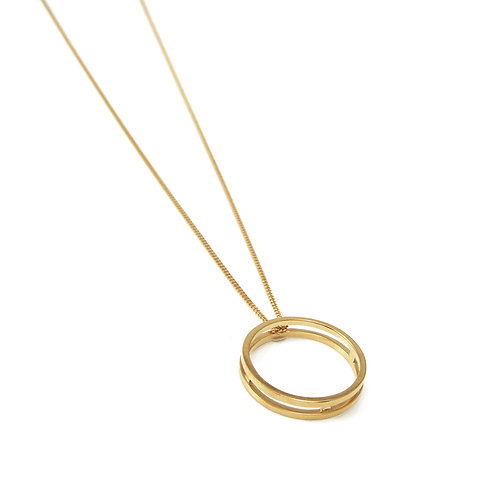 Parallel Gold Ring Pendant