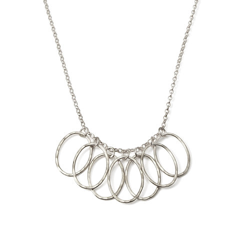 Cascade Leaf Link Necklace
