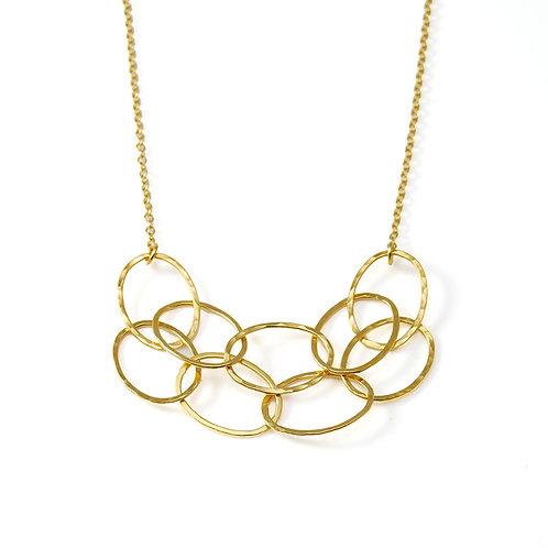 Small Gold Cascade Necklace