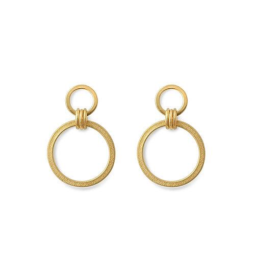 Ellipse Circle Drop Earrings