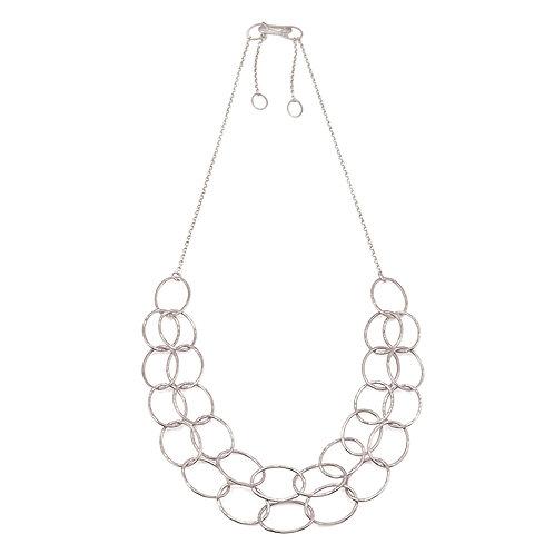 Double Line Cascade Necklace