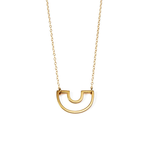 SALE: Mini Gold Parallel Necklace