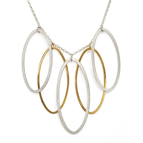 Ellipse Cascading Leaf Necklace