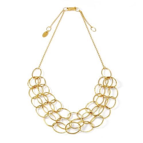 Triple Gold Cascade Necklace