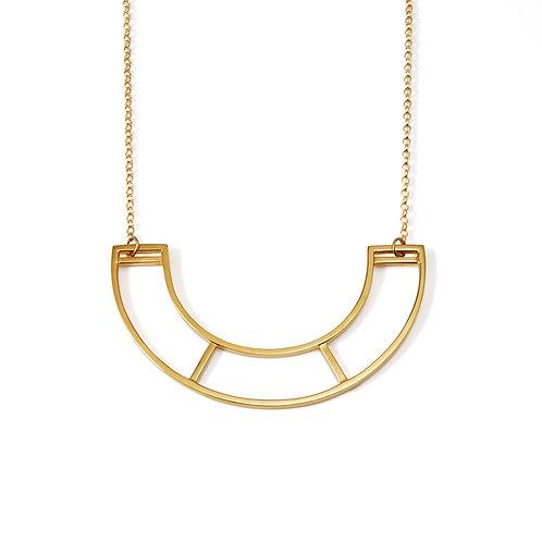 SALE: Medium Gold Parallel Necklace